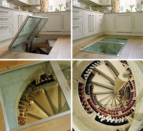 spiral-staircase-wine-cellar-design
